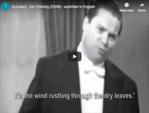 The German baritone Dietrich Fischer-Dieskau sings Schubert's lied Der Erlkönig