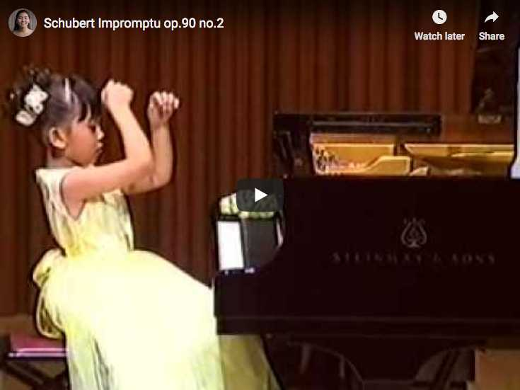 The 7 years old Japanese pianist Aimi Kobayashi performs Schubert's Impromptu Op. 90 No. 2 in E-flat major