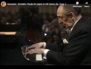 Vladimir Horowitz performs Scriabin's Etude in C-sharp minor, Op. 2 No. 1
