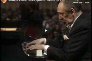 Scriabin – Etude in C-Sharp Minor – Horowitz, Piano