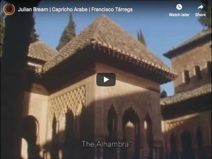 The guitarist Julian Bream performs Tárrega's Capricho árabe