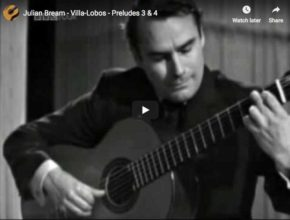 The guitarist Julian Bream plays Villa Lobos' preludes 3 and 4