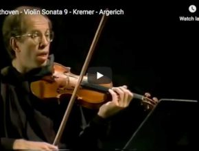 The violonist Gidon Kremer and the pianist Martha Argerich perform Beethoven's Sonata No. 9 for violin and piano, A Kreutzer