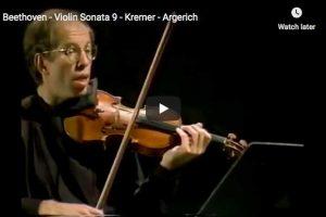 Beethoven – Kreutzer Sonata – Kremer, Violin; Argerich, Piano