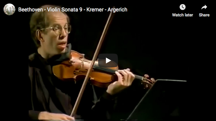 Beethoven - Violin Sonata No. 9 - Kremer, Violin; Argerich, Piano