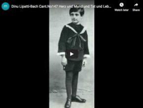 Dinu Lipatti is playing Bach's Cantate Herz und Mund und Tat und Leben piano transcription