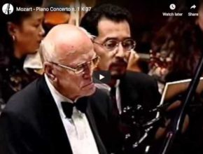 The Russian pianist Sviatoslav Richter performs Mozart's Piano Concerto No. 1 in F major