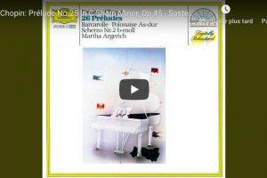 Chopin – Prelude No 25 – Argerich, Piano