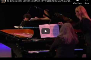 Lutoslawski – Paganini – Variations for 2 Pianos – Argerich, Kissin