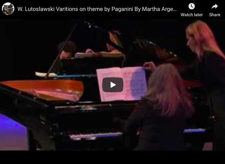 Lutoslawski - Paganini Variations for 2 Pianos - Argerich, Kissin
