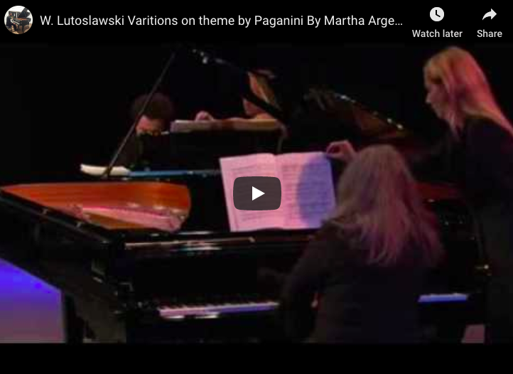 Lutoslawski - Paganini - Variations for 2 Pianos - Argerich, Kissin