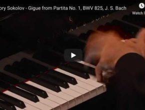 Bach - Gigue from Partita No 1, BWV 825 - Sokolov, Piano