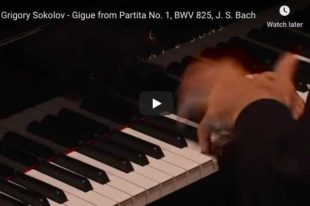 Bach - Gigue from Partita No 1, BWV 825 - Sokolov, Piano