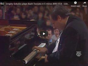 Bach - Toccata in E Minor BWV - Sokolov