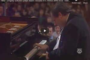 Bach – Toccata in E minor – Sokolov, Piano