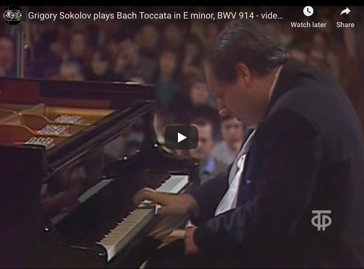Bach - Toccata in E minor, BWV 914 - Sokolov, Piano