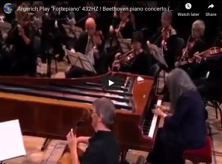 The pianist Martha Argerich performs Beethoven's Piano Concert No 1 in C Major on a Fortepiano 432 HZ.