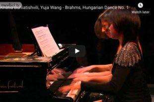 Brahms - Hungarian Dance No. 1 - Wang & Buniatishvili, Piano