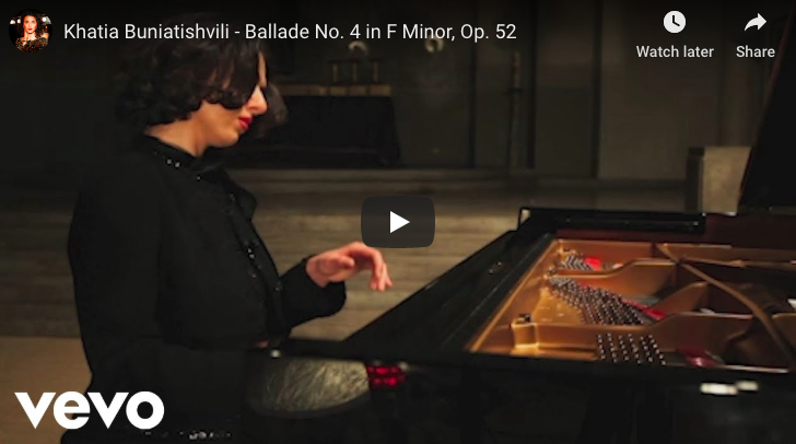 Chopin - Ballade No 4 in F minor - Buniatishvili, Piano