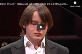 Chopin - Barcarolle in F-Sharp Major - Trifonov, Piano
