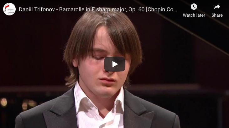 Chopin - Barcarolle in F-Sharp Major - Trifonov, Piano