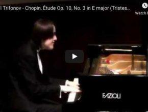 Daniil Trifonov plays Chopin's Etude Op. 10 No. 3 in E-Major for piano