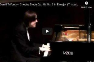 Chopin - Étude No 3, Sadness - Trifonov, Piano