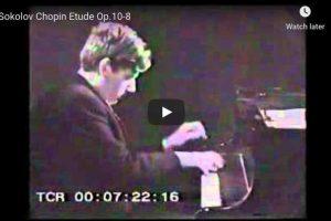 Chopin – Étude Op. 10 No. 8 – Sokolov, Piano