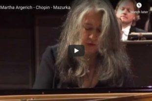 Chopin - Mazurka Op. 24 No. 2 - Argerich, Piano