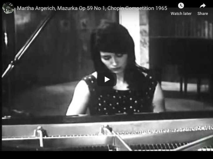 Chopin - Mazurka Op 59 No 1 - Argerich, Piano