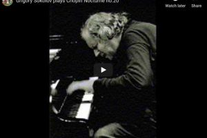 Chopin – Nocturne No 20 in C-sharp Minor – Sokolov, Piano