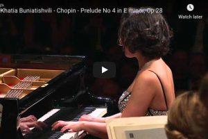 Chopin – Prelude No. 4 – Khatia Buniatishvili, Piano