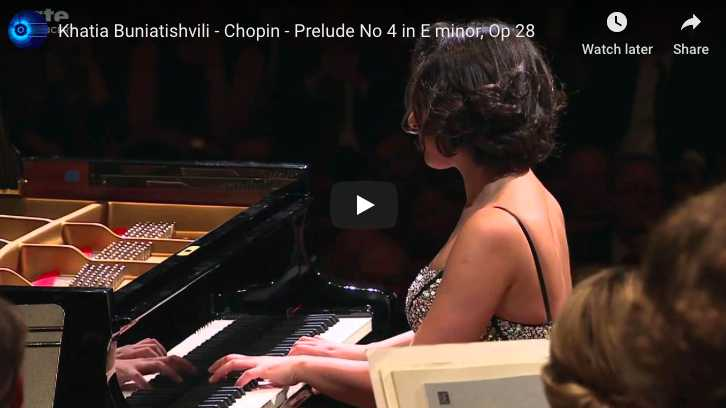 Chopin – Prelude No 4 in E Minor - Buniatishvili, Piano