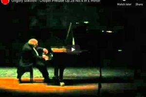 Chopin – Prelude No. 4 – Sokolov, Piano