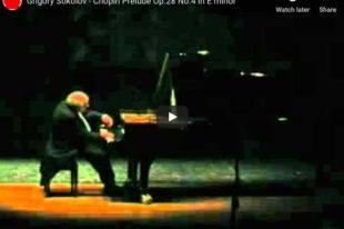 Chopin - Prelude No. 4 - Sokolov, Piano