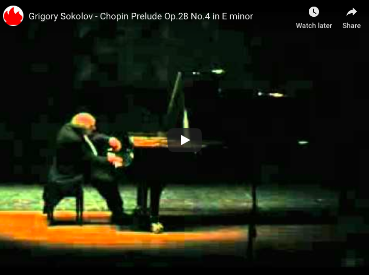 Chopin - Prelude No 4 in E Minor - Sokolov, Piano