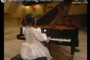 Chopin – Waltz No. 7 – Yuja Wang, Piano