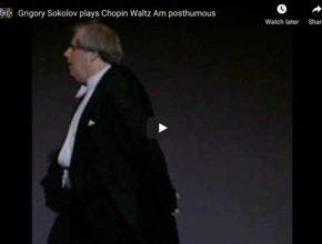 Chopin - Waltz Posthumous in A Minor - Sokolov, Piano