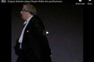 Chopin – Waltz No. 19, Op Posthumous – Sokolov, Piano