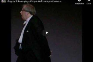 Chopin - Waltz No. 19, Op Posthumous - Sokolov, Piano