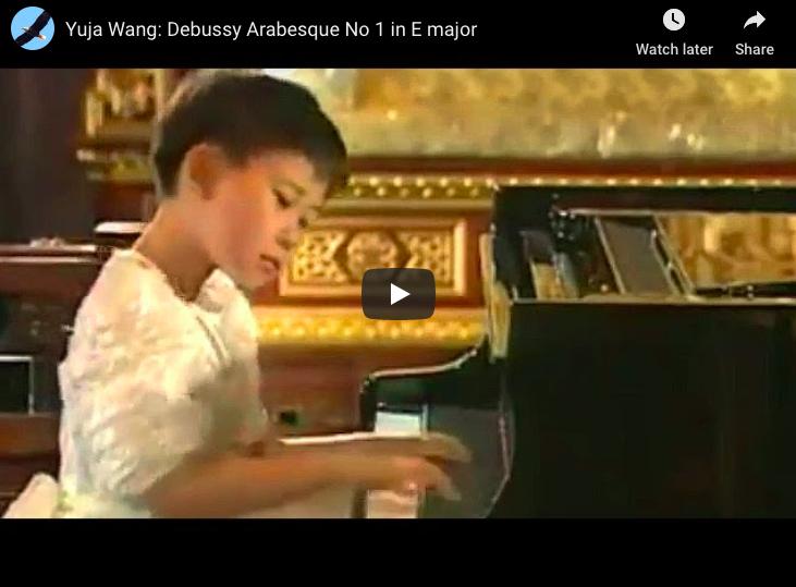 Debussy - Arabesque No 1 in E Major - Wang, Piano