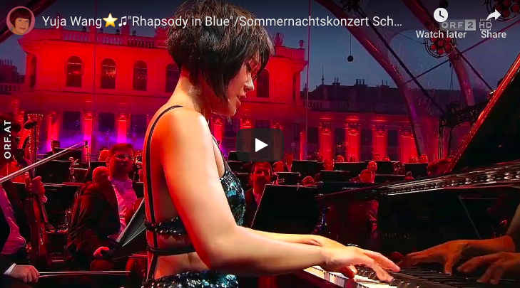 The Chinese pianist Yuja Wang performs George Gershwin's Rhapsody in Blue.