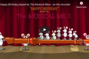 Happy Birthday Musical Mice ! – Flute Version