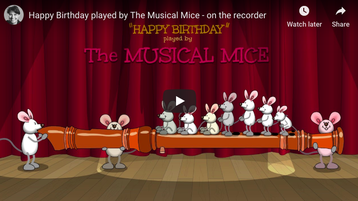 Happy Birthday Musical Mice ! - Flute Version