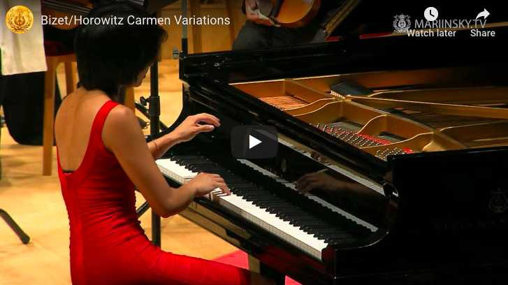 Yuja Wang plays Horowitz's variations on Bizet's Gypsy Dance from his opera Carmen