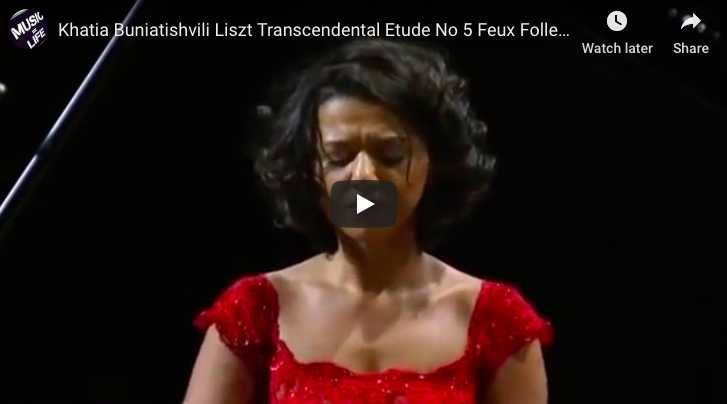 Liszt - Transcendental Etude No 5, Feux Follets - Buniatishvili, Piano
