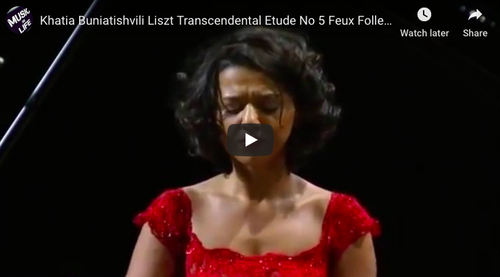 Liszt - Transcendental Etude No 5, Feux Follets - Buniatishvili, Piano
