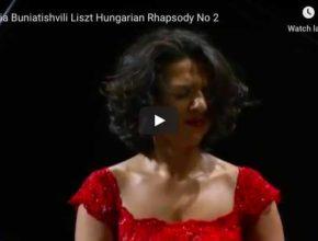 The pianist Khatia Buniatishvili performs Liszt's Hungarian Rhapsody No 2 for piano in C-Sharp Minor.