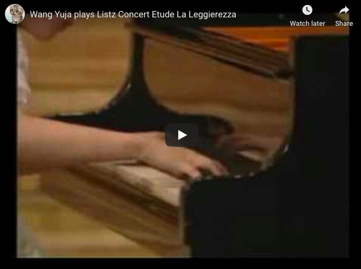 Yuja Wang plays La Leggiereza, one of Franz Liszt's Three Concert Etudes for piano