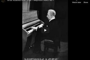Liszt – Mephisto Waltz No 1 in A major – Rubinstein, Piano